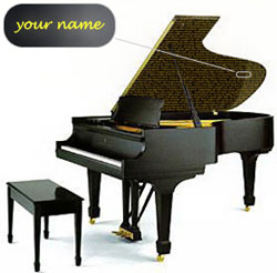 Your Name on the world's finest piano!